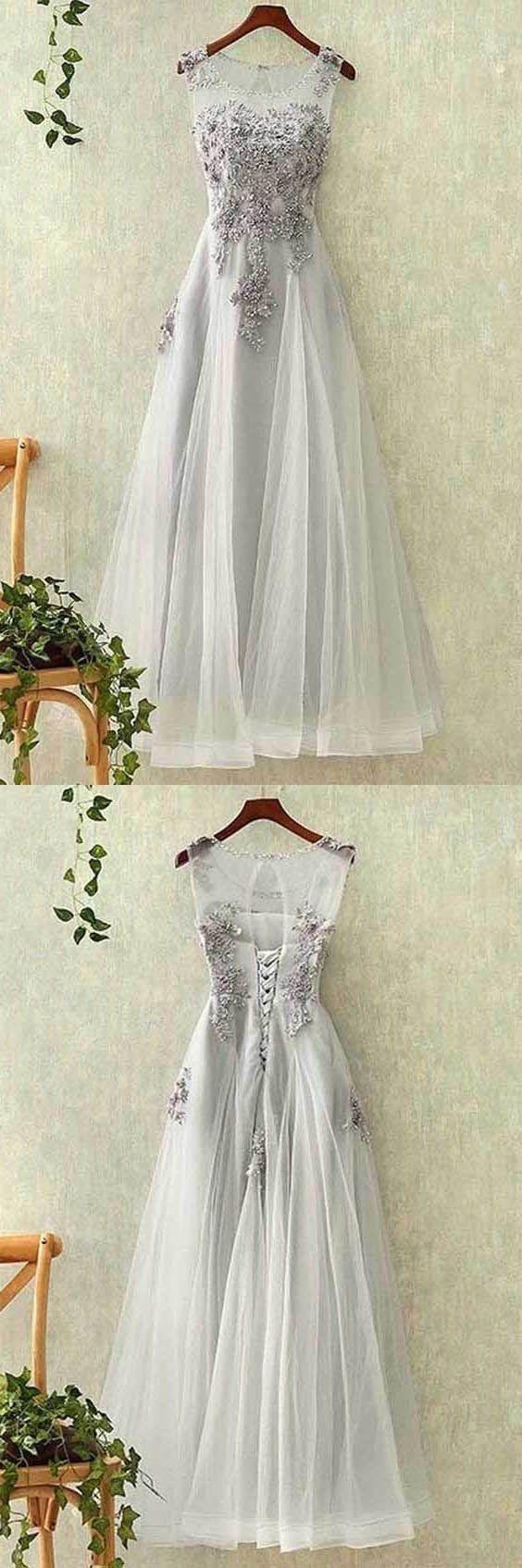 Cheap splendid prom dresses long elegant tulle lace applique long