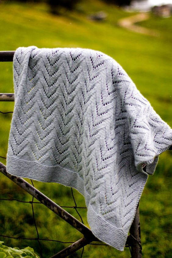 Knitting pattern for Twisty Lace Baby Blanket Pattern - Baby Cakes ...