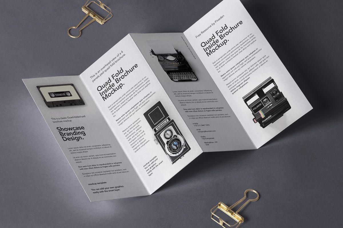 4 Fold Panel Psd Brochure Mockup Psd Mock Up Templates