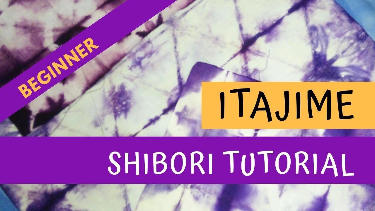 Tutorial Shibori Itajime Basic Folding Kebiasaan Belajar Belajar Shibori
