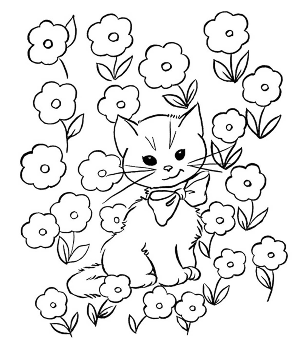 Top 30 Free Printable Cat Coloring Pages For Kids Cat Coloring Page Coloring Pages Dog Coloring Page
