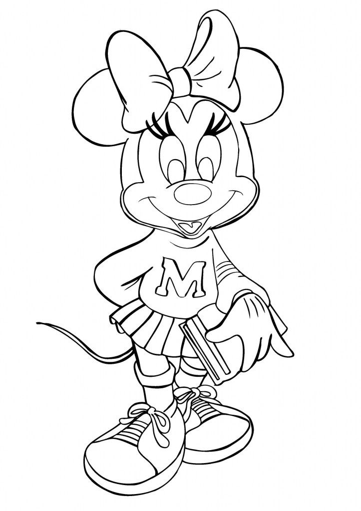 Free Printable Minnie Mouse Coloring Pages For Kids Coloring