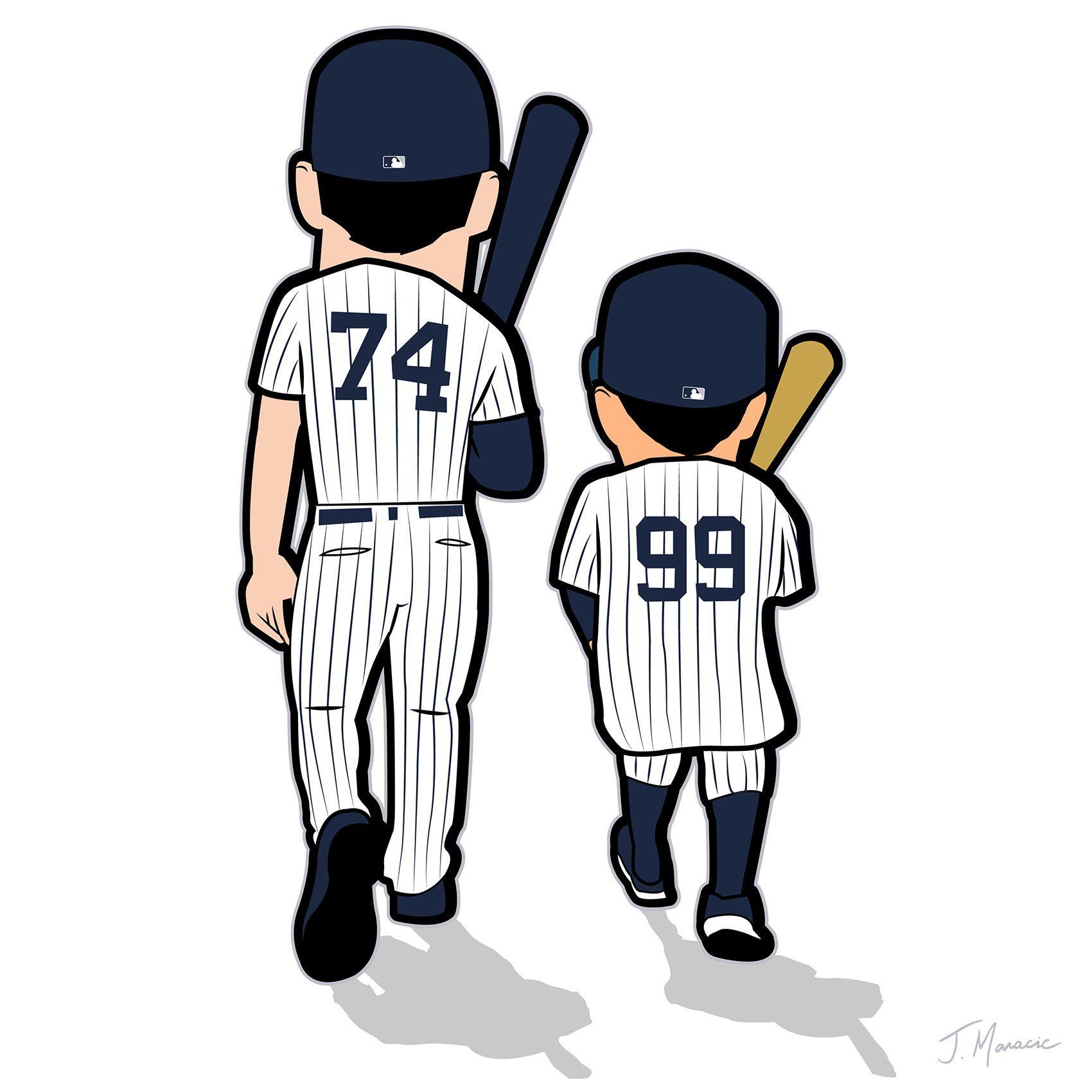 Judge Toe Yankees Toon