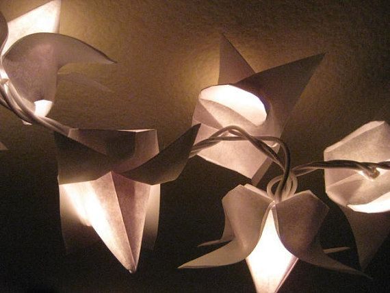 Target Origami String Lights : Origami Tulip flower lantern string light set of by OrigamiByWingy, USD 45.00 Origami String ...