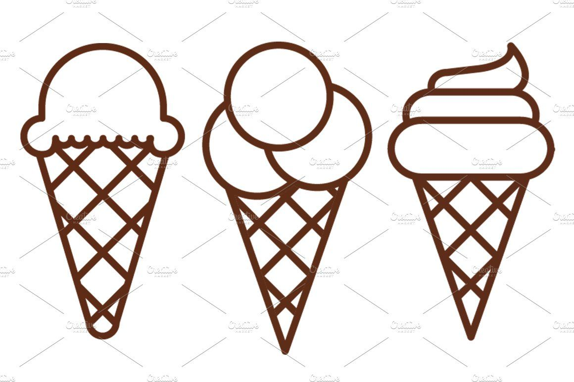 Ice Cream Icons By Iconika Cuby Design On Creativemarket