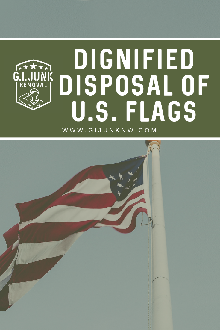 Dignified Disposal Of U S Flags Flag Disposal Support Veterans Flag