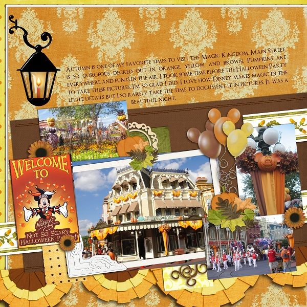 Halloween Decorations - MouseScrappers Scrapbooking- Disney - not so scary halloween decorations