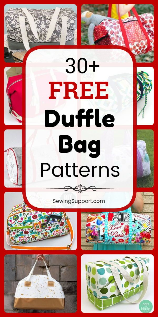 30+ Free Duffle Bag Patterns #bagpatterns