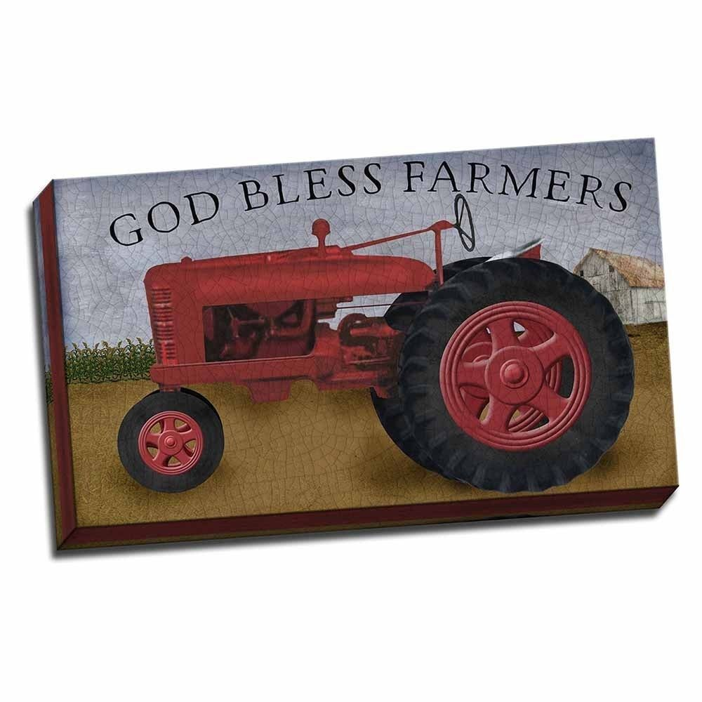 Picture It on Canvas 'God Bless Farmers' 18-inch x 30-inch Wrapped Canvas