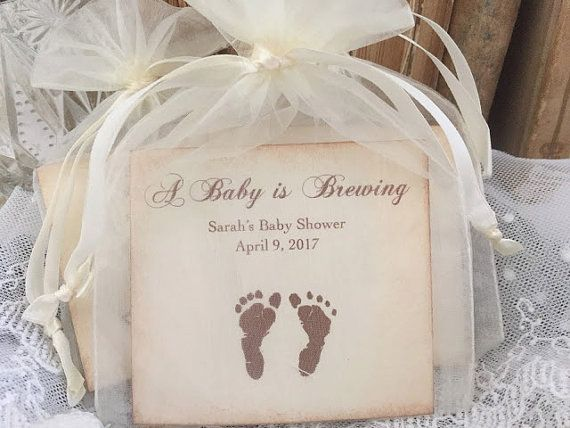 Gender Neutral Baby Shower Favors, Tea Party Baby