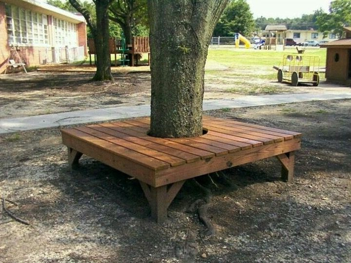 Free Pallet Tree Bench Backyard Trees Bench Around Trees Tree Seat