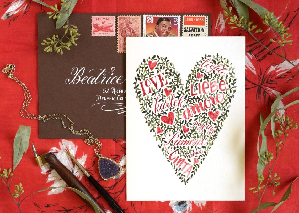 Words And Vines Valentines Day Card Tutorial Card Tutorials