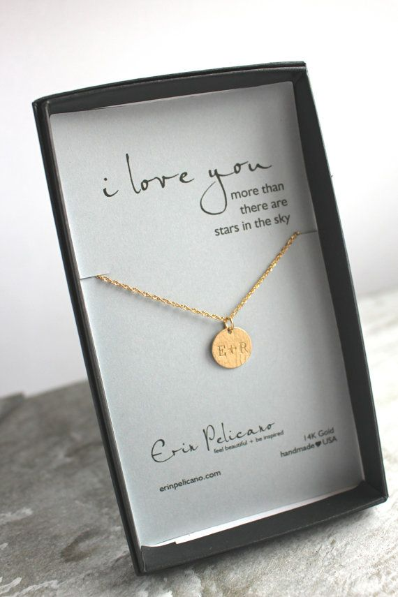 Personalized Gift For Her I Love You Necklace Custom Etsy Personalized Brides Gifts Girlfriend Gifts Personalized Gifts For Her