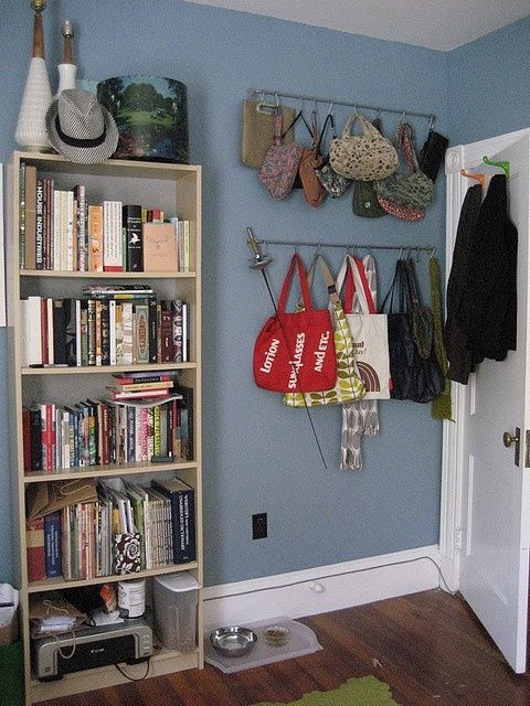 Really Practical Organization Ideas Using Pegboards And Towel Racks.