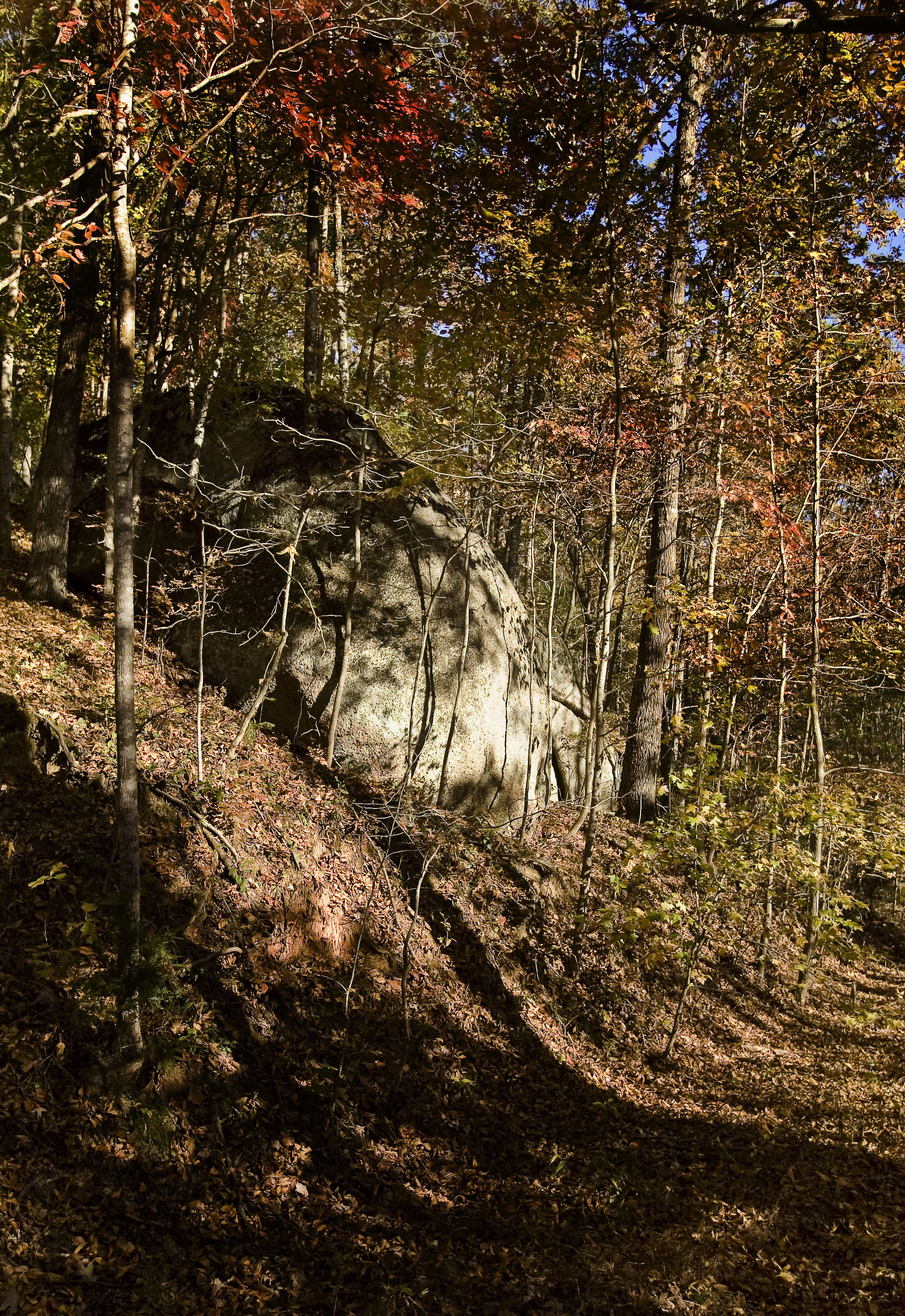 Hanging Rock was a British post garrisoned by the Prince