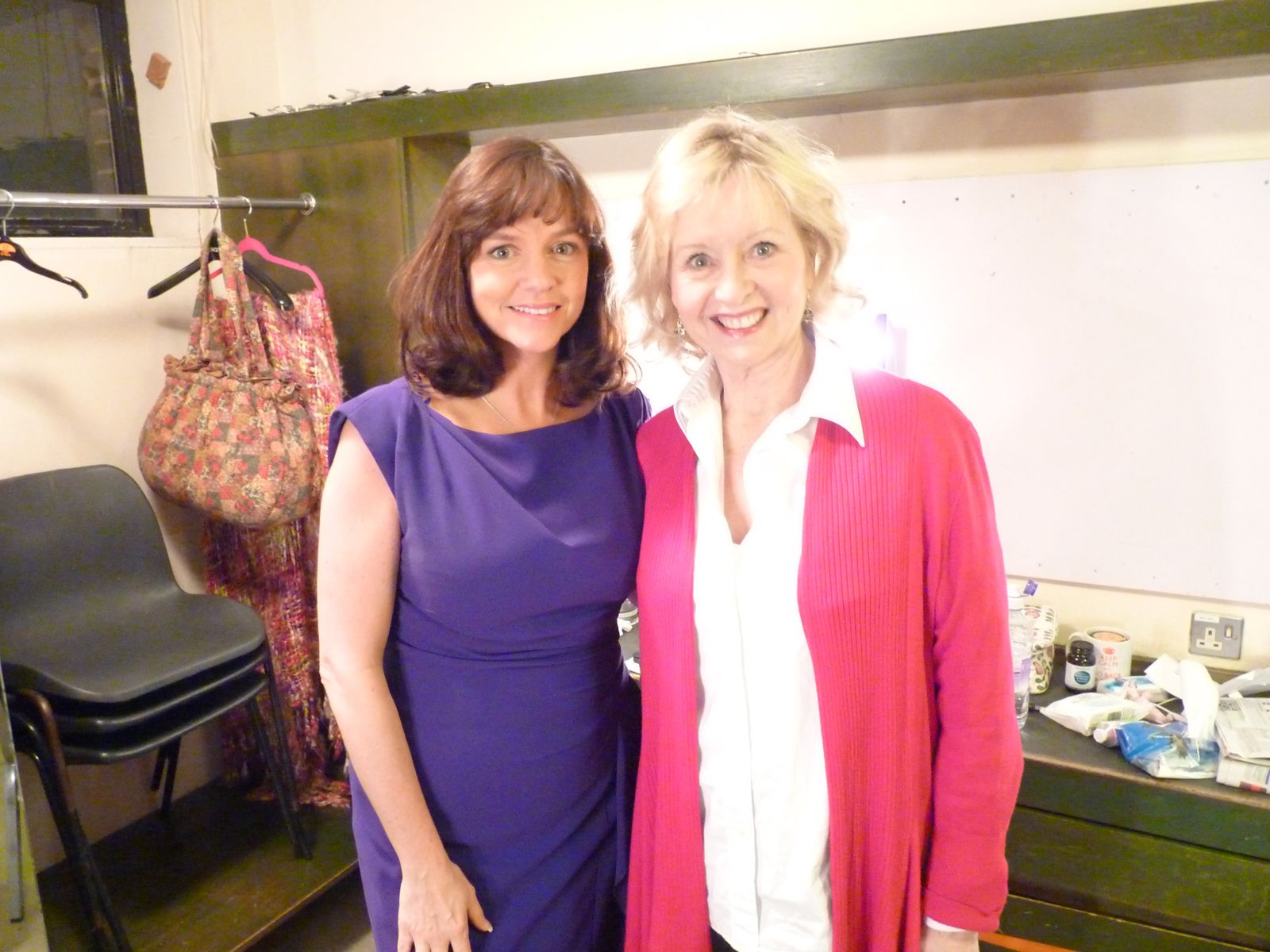 Amber Bezer (left), who starred as Ginevra in Michael Winner's film adaptation of Agatha Christie's Appointment with Death, met actress Liza Goddard (right) after last night's performance of Agatha Christie's Go Back For Murder #theatre #drama #showbusiness #actress #LizaGoddard #AmberBezer #AgathaChristie #murder #mystery #whodunnit