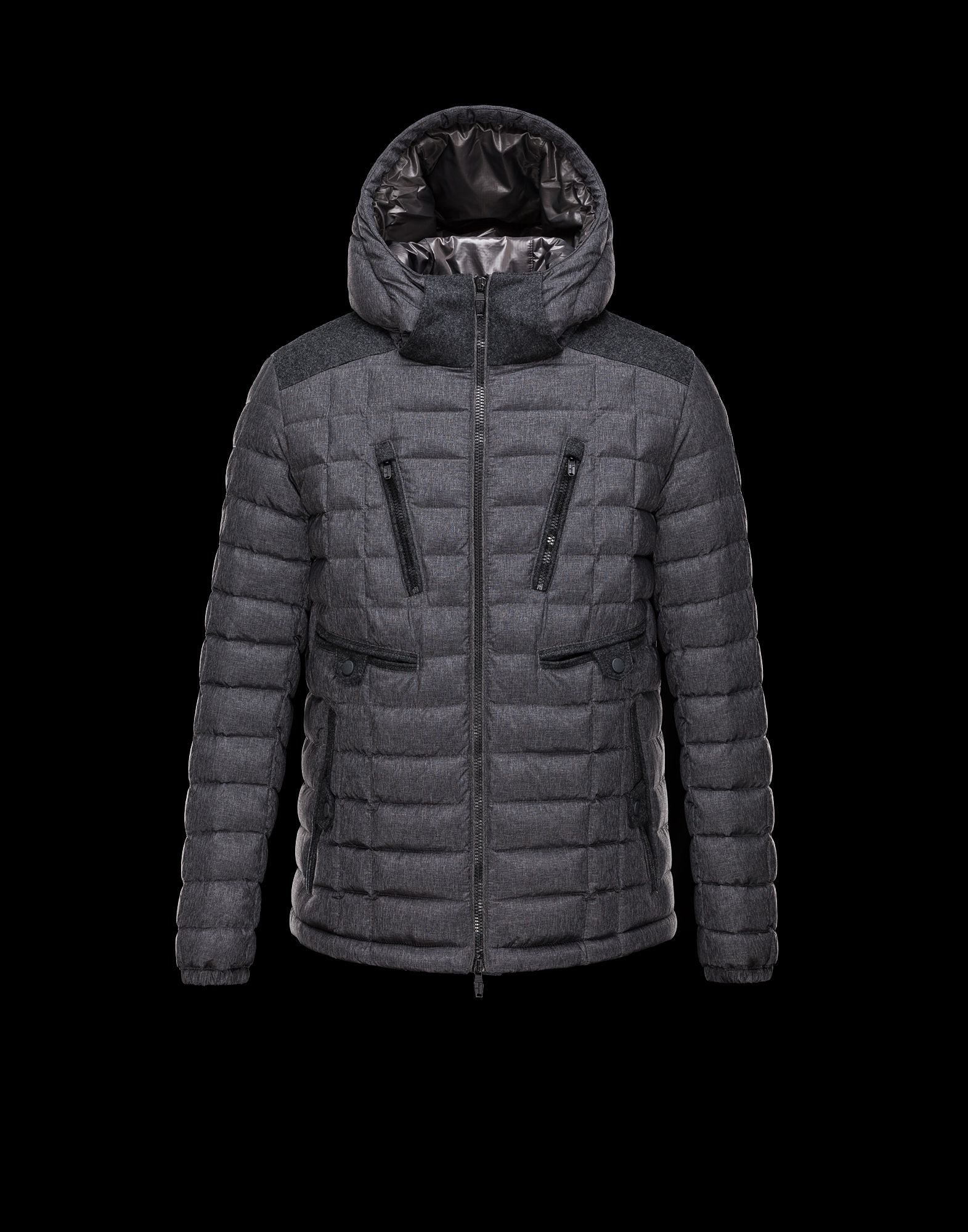MONCLER MEN'S MAYA SHINY DOWN PUFFER JACKET WITH HOOD.