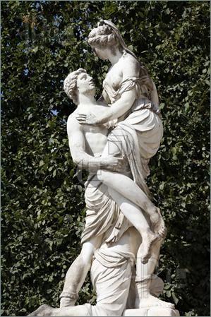 Abduction Of Helen In Schoenbrunn Gardens Vienna Austria