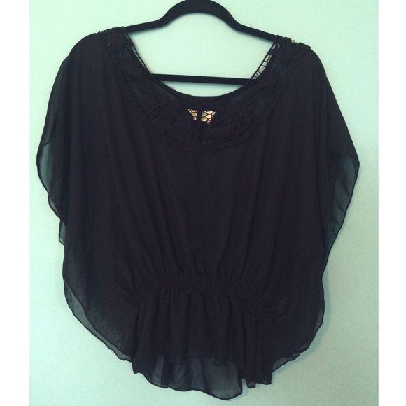Dream Out Loud by Selena Gomez Blouse Black flowy blouse, with pretty open design on front! Dream Out Loud Tops Blouses