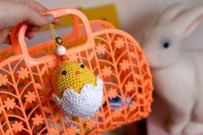 Yellowmero : mon attachant petit poussin de Pâques crochet happy easter
