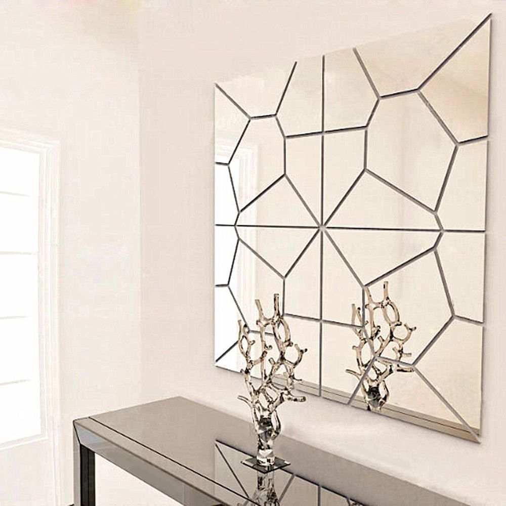 2: decorative mirror, and as clear as a mirror, and a mirror near the same, to achieve the perfect decorative effect. On the wall Dimensions: Monolithic 20 20cm, wall heavily on the size of 20 80cm, thickness of 1mm. | eBay!