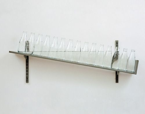 Michael Craig-Martin - On the Shelf (1970 - glass, metal, water) / http://www.michaelcraigmartin.co.uk