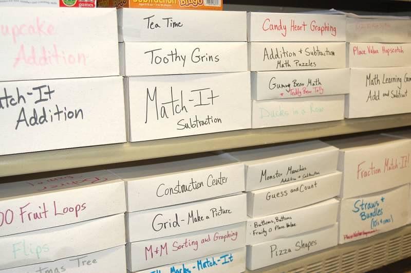 Great idea to organize math games math organization