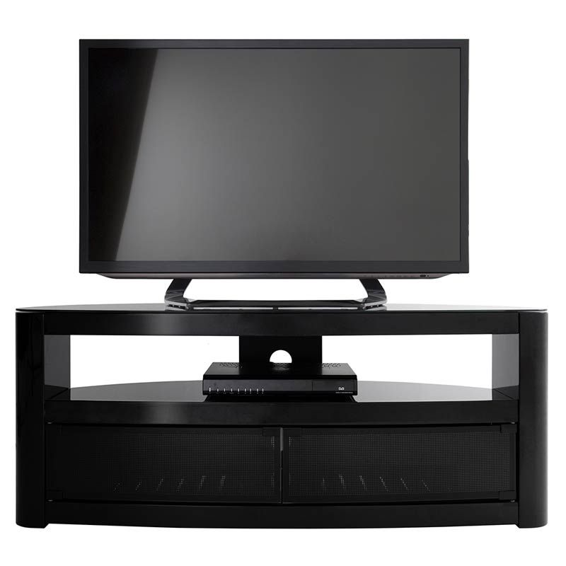 Costco Uk Burghley 1250 Tv Stand In Black Tv Stand Black Tv Stand Wall Mounted Tv