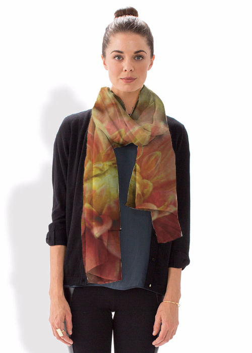 Cashmere Silk Scarf - FLOWER WITH BRUSHES by VIDA VIDA xveSfRXs