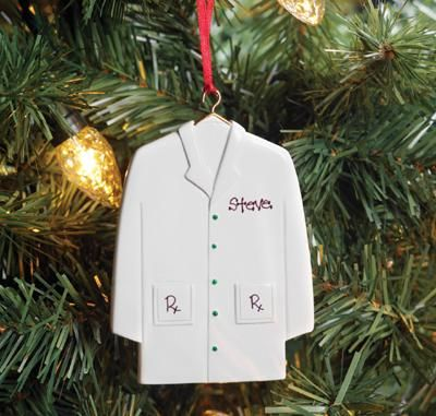 White Lab Coat Ornament Personalized  College Girl  Pinterest