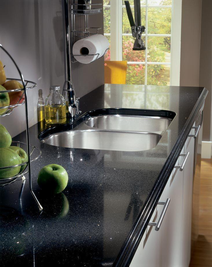Silestone Stellar Night Kitchen Countertop   Remove The Backsplash And Make  The Wall Clean