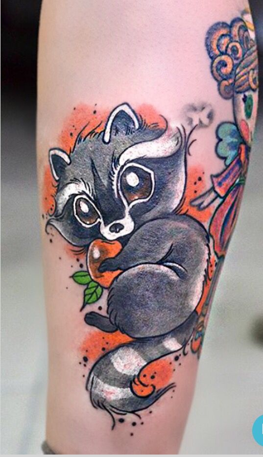 My new Love tattoo ❤️ raccoon Camiyu Wallifornia  http://instagram.com/cammiyu