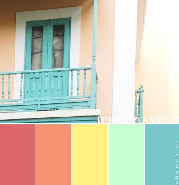 Tropical Colors For Home Interior: Puerto Rico Latin Tropical Color Palette