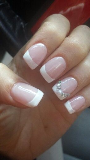 Diamond And Pearl French Manicure Manicures Tip Nails Sparkly Tips