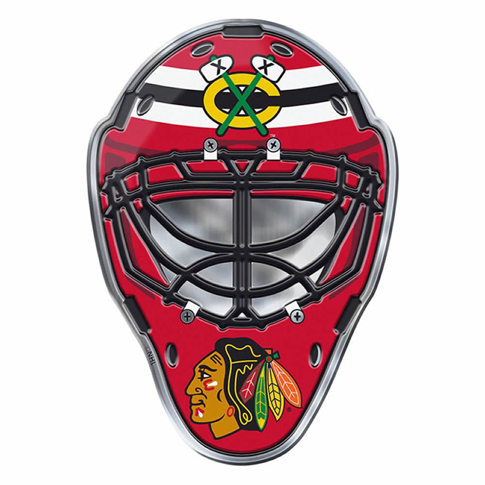 Fuchse Hockey Logos New Nhl Chicago Blackhawks Premium 3 D Aluminum Helmet Sticker Decal Emblem Ebay Nhl Chicago Goalie Mask Chicago Blackhawks