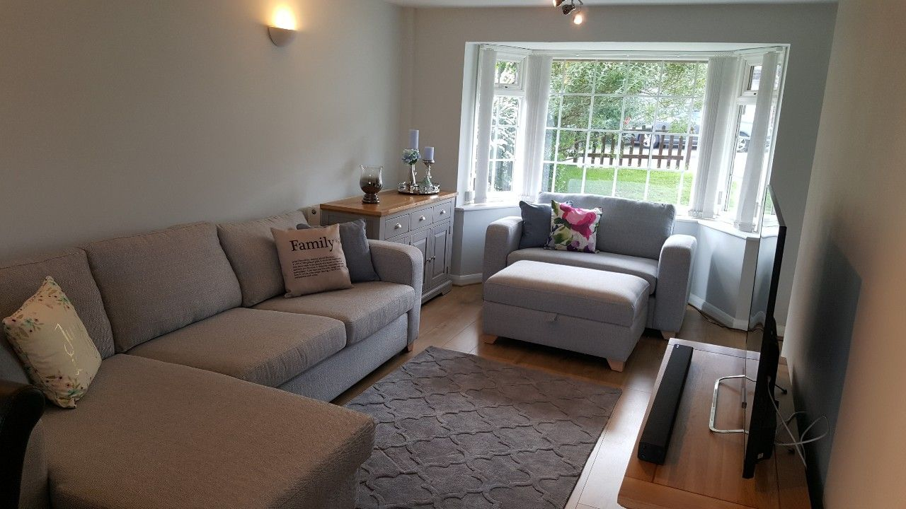 Captivating Grey, Calm Living Room. Dfs Lydia, Oak Furniture Land St Ives. Grey Part 26