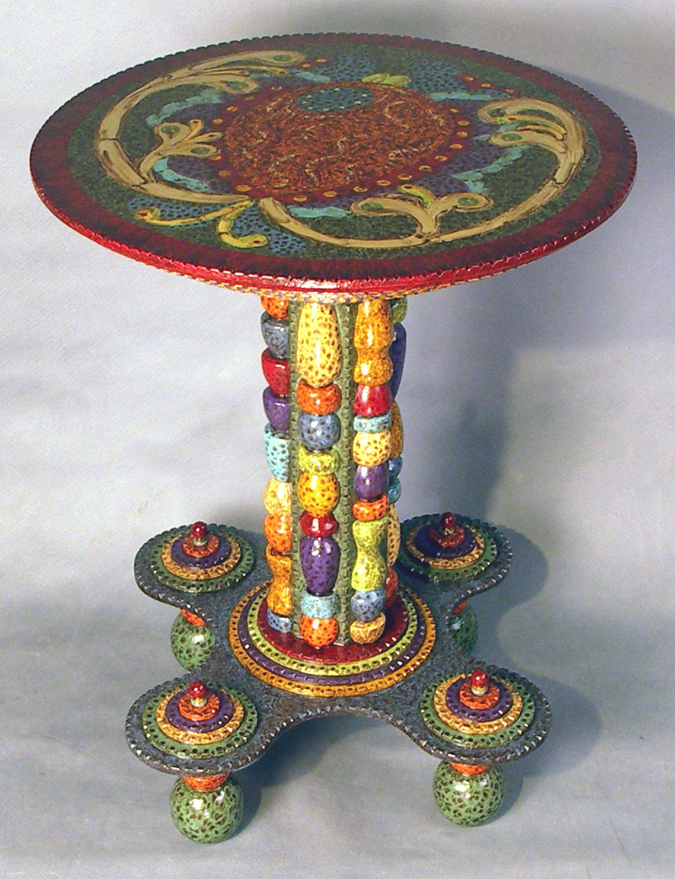 Whimsical Hand Painted Art Furniture Art Folk Art