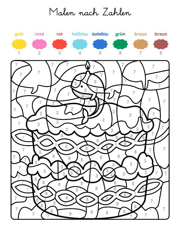Ausmalbild Malen Nach Zahlen Torte Zum 9 Geburtstag Ausmalen Kostenlos Ausdrucken Malen Nach Zahlen Malen Nach Zahlen Kostenlos Ausmalen