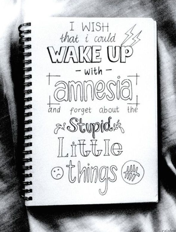Favourite Song Amnesia 5sos Doodle Quotes Drawing Quotes 5sos Lyrics