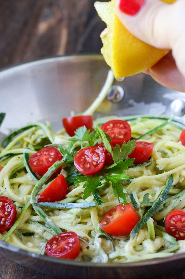 Zucchini cherry tomato pasta recipe