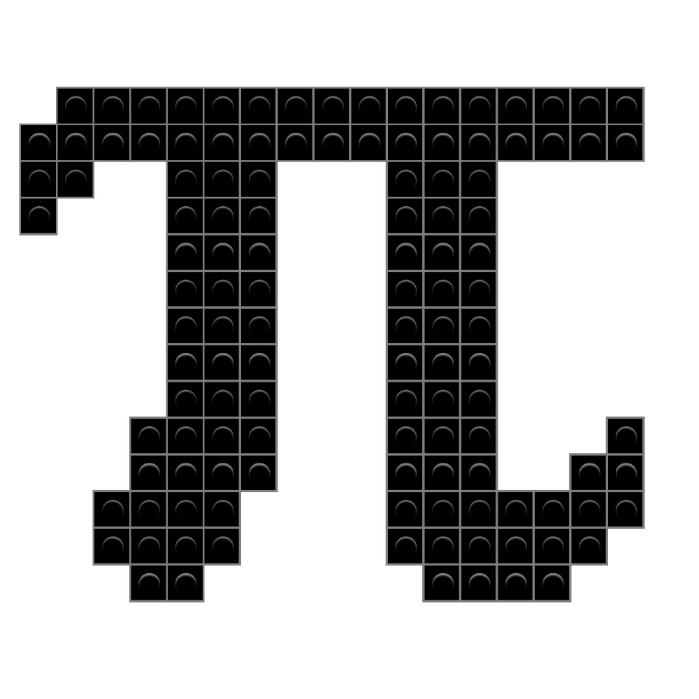 Pi Symbol Pixel Art Pattern Pixel Art Pixel Art Design