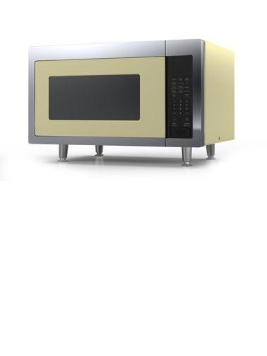 Yellow Microwave Oven ~ Big chill retro microwave in buttercup yellow kitchen