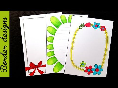 Easy border designs on paper project work borders for projects also best reeta rani images in rh pinterest