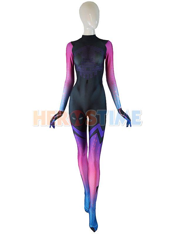 Sombra Costume Overwatch Undersuit Girl Cosplay Sombra