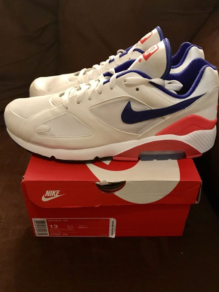 buy online 7b0fd eb0f7 Nike Air Max 180 Ultramarine White Solar Red OG Retro (615287-100) - Sz 13  fashion clothing shoes accessories mensshoes athleticshoes (ebay link)