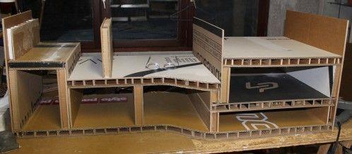 Construction d'un meuble TV en carton Meuble en carton