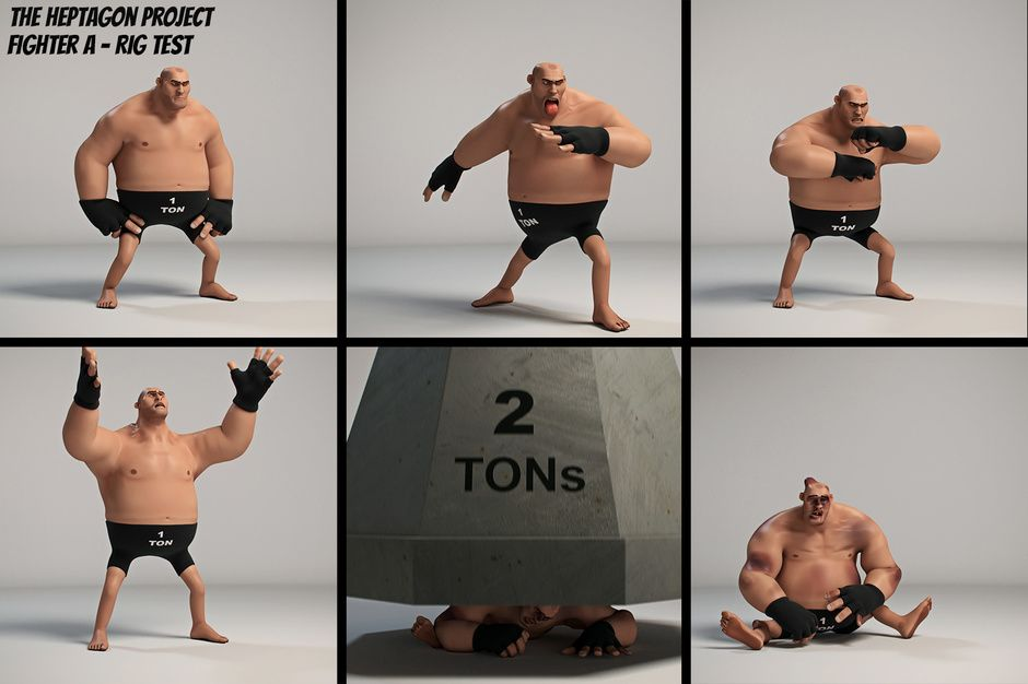 The Heptagon Project - Fighter A Animation/Rig Test by David A. F. | Animation | 3D | CGSociety