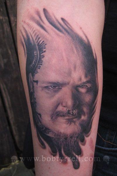 Paul booth tattoo by bob tyrrell portrait tattoo b g - Wicked 3d tattoos ...