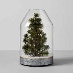 Glass Vase With Tree Hearth Hand With Magnolia Target