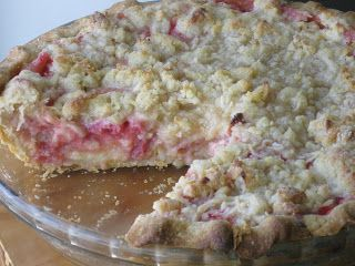 Rhubarb Custard is one of my favorite pies and this one has a coconut crumb topping, will have to try! Rhubarb Custard Pie with Coconut Crumb Topping via  Cardamommy and Coriaunty